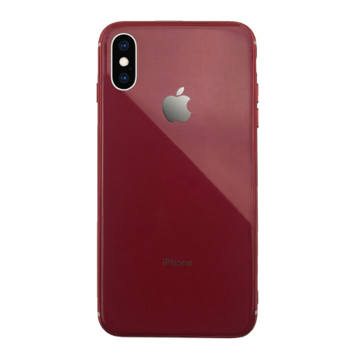 Чехол накладка xCase на iPhone XS Max Glass Silicone Case Logo red - UkrApple