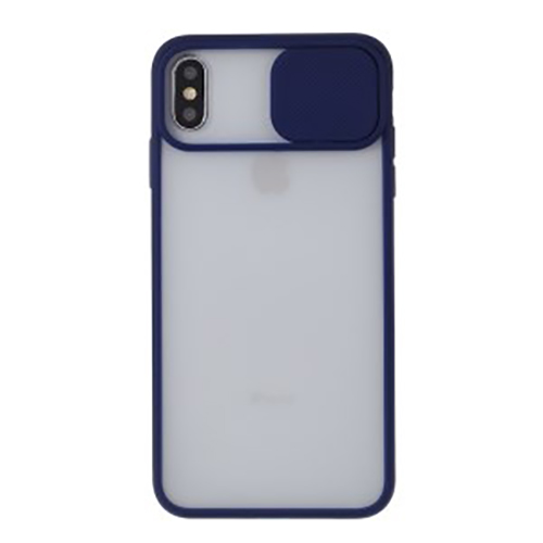 Чехол накладка xCase для iPhone XS Max Slide Hide Camera Dark Blue - UkrApple