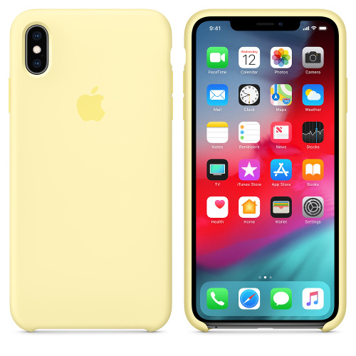 Чехол Silicone Case OEM for Apple iPhone XS Max Mellow Yellow - UkrApple