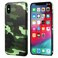 Чехол накладка xCase на iPhone XS Max Green Camouflage case